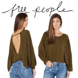 NWT FREE PEOPLE Love Me Thermal Top